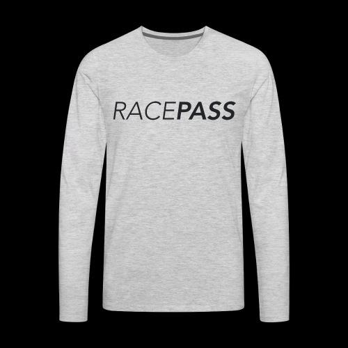 Racepass logo black - Men's Premium Long Sleeve T-Shirt