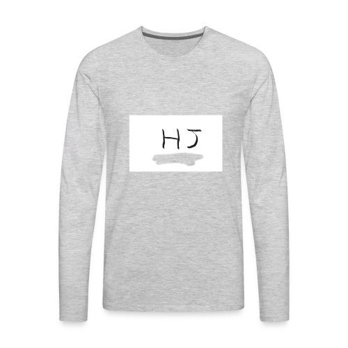 HJ small letter merch - Men's Premium Long Sleeve T-Shirt