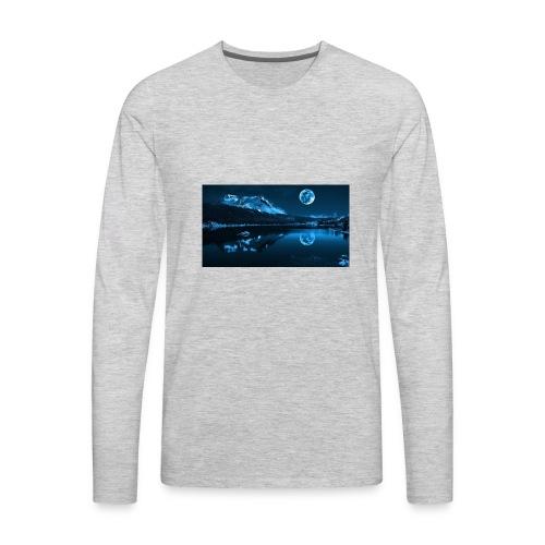 blue moon lake - Men's Premium Long Sleeve T-Shirt