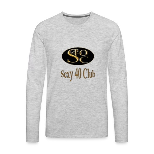 s40c logo trans - Men's Premium Long Sleeve T-Shirt