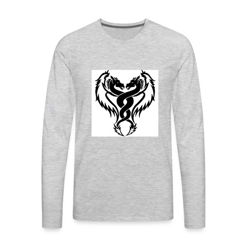 Black And White Dragon Tattoo Designs - Men's Premium Long Sleeve T-Shirt