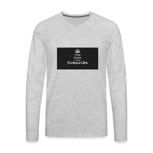 Keep Calm Merch - Men's Premium Long Sleeve T-Shirt