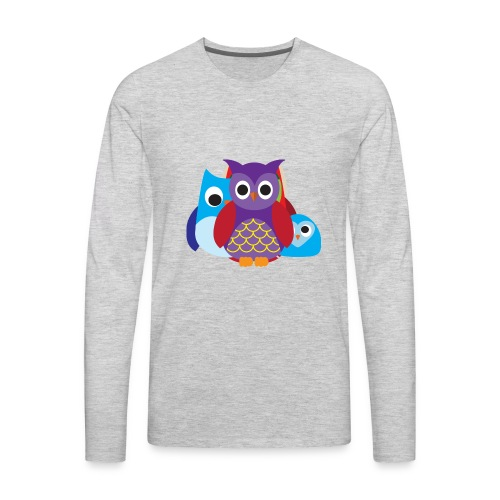 Cute Owls Eyes - Men's Premium Long Sleeve T-Shirt
