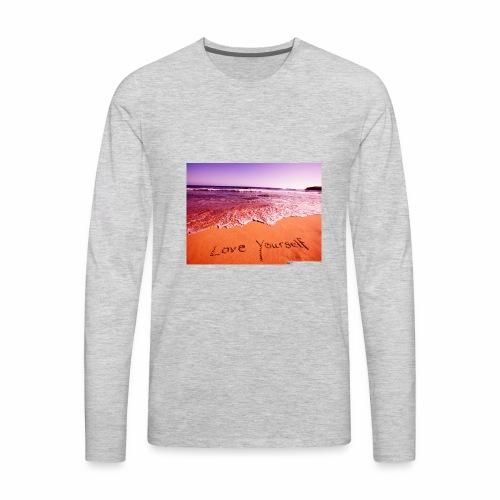 on beach love yourself wallpapers 1024x768 - Men's Premium Long Sleeve T-Shirt