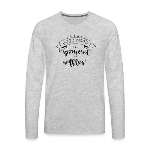 Sponsored by Waffles - Men's Premium Long Sleeve T-Shirt