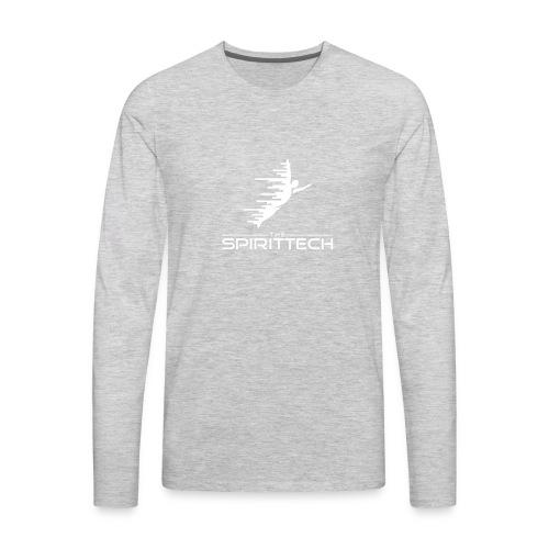 The SpiritTech Logo White PNG - Men's Premium Long Sleeve T-Shirt