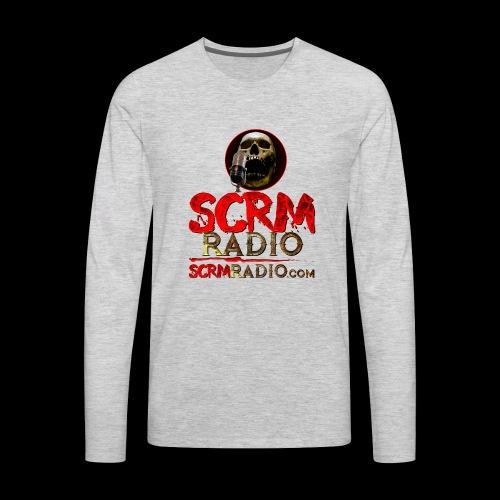 SCRM Radio Logo with Skull - Men's Premium Long Sleeve T-Shirt