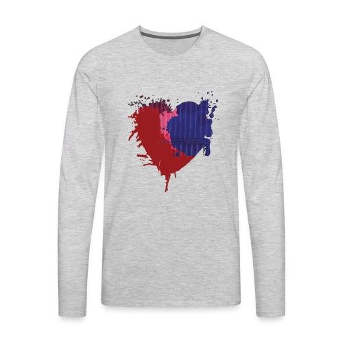 Painted Heart - Men's Premium Long Sleeve T-Shirt