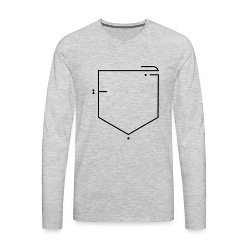 poche جيب - Men's Premium Long Sleeve T-Shirt