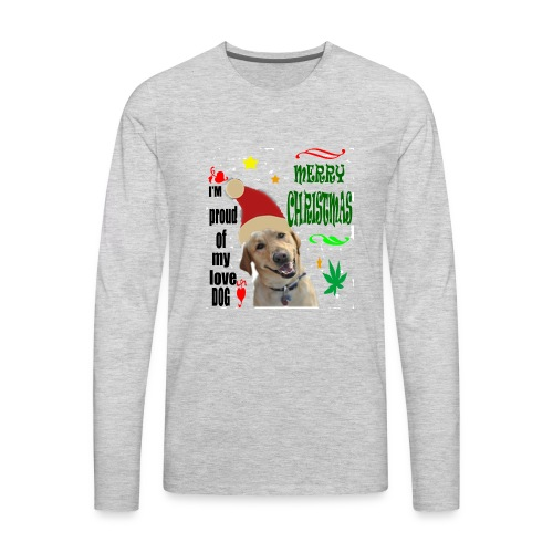 christmas with your dog - Men's Premium Long Sleeve T-Shirt