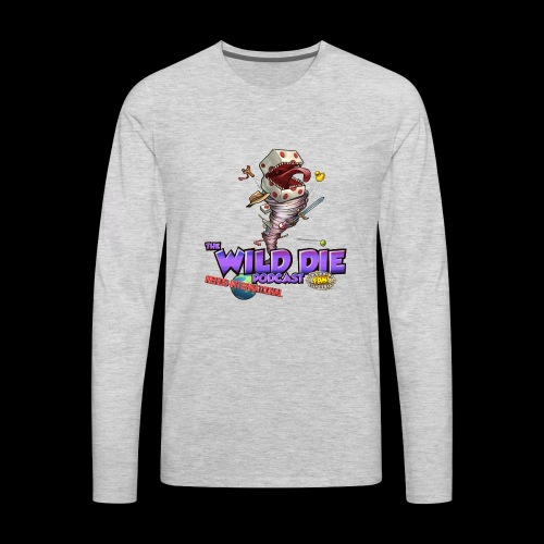 The Wild Die Podcast with N-I logo - Men's Premium Long Sleeve T-Shirt