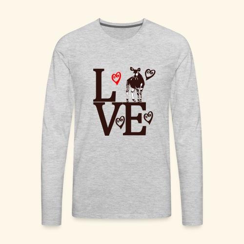 Okapi Love - Men's Premium Long Sleeve T-Shirt