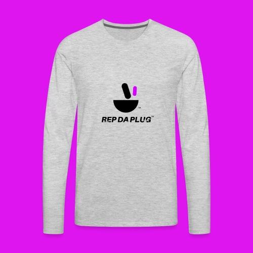 Plug de Música logo - Men's Premium Long Sleeve T-Shirt