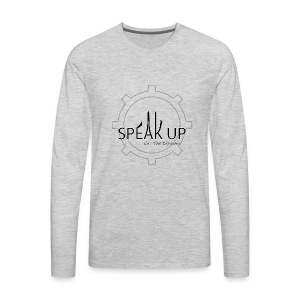 speak up logo 1 - Men's Premium Long Sleeve T-Shirt