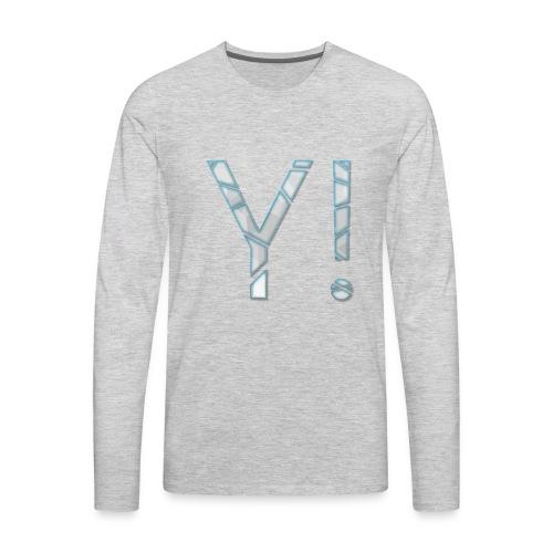 Yenkij - logo - Men's Premium Long Sleeve T-Shirt