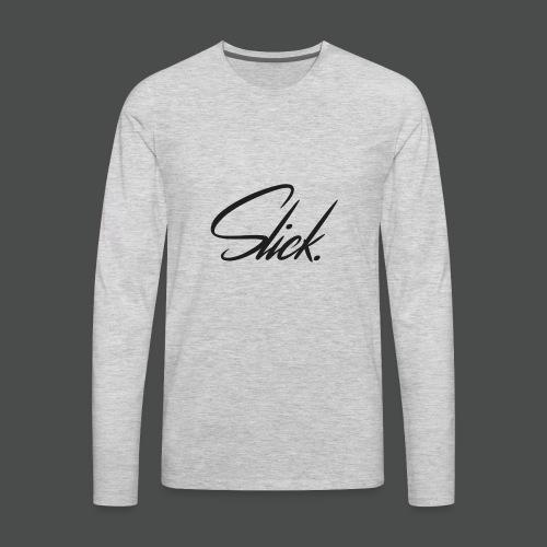 Slick Logo - Men's Premium Long Sleeve T-Shirt