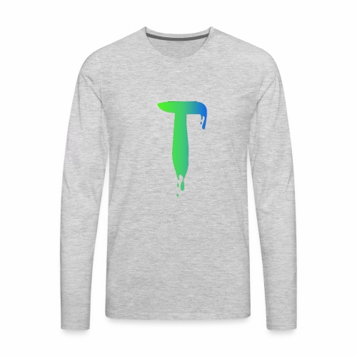 Colored Tlicker Logo - Men's Premium Long Sleeve T-Shirt