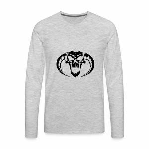 black skull - Men's Premium Long Sleeve T-Shirt