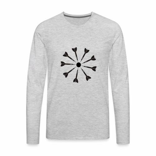 9 Darts Dart Shirt - Men's Premium Long Sleeve T-Shirt