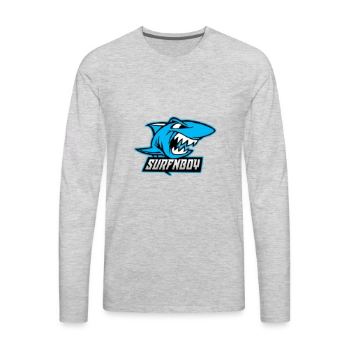 Surfnboy Mascot - Men's Premium Long Sleeve T-Shirt