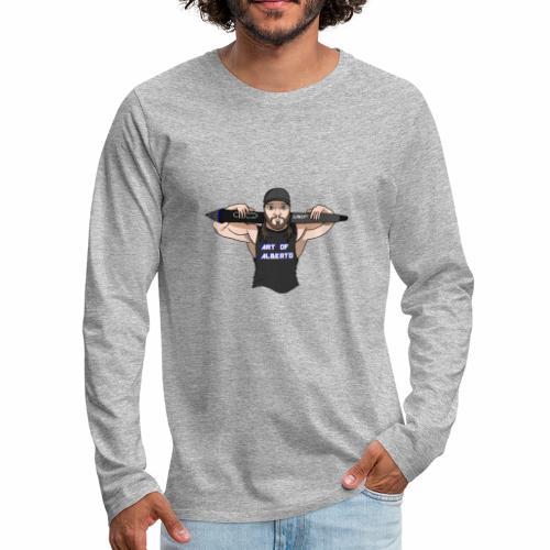 Art of Alberto Logo - Men's Premium Long Sleeve T-Shirt