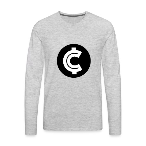 Crypto Coin RIch Logo - Men's Premium Long Sleeve T-Shirt