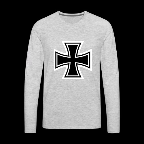 ESCAPE WORLD CROSS HOODIE - Men's Premium Long Sleeve T-Shirt
