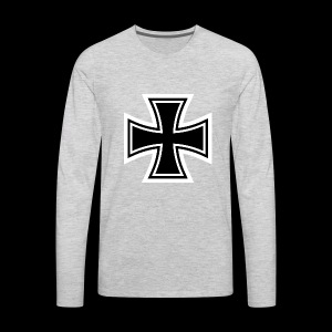 ESCAPE WORLD CROSS HOODIE - Men's Premium Long Sleeve T-Shirt