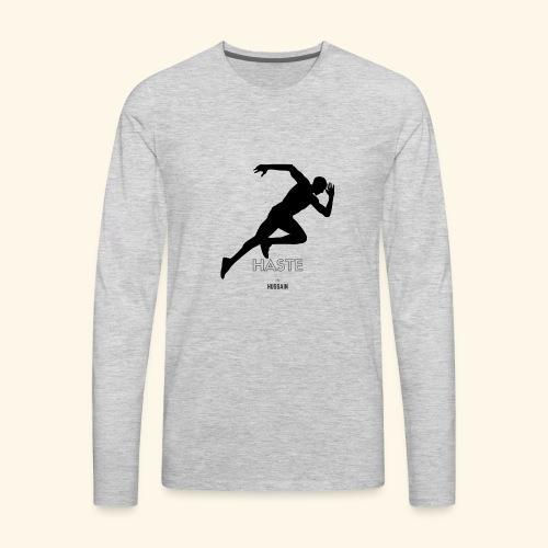 hastebyhussain - Men's Premium Long Sleeve T-Shirt