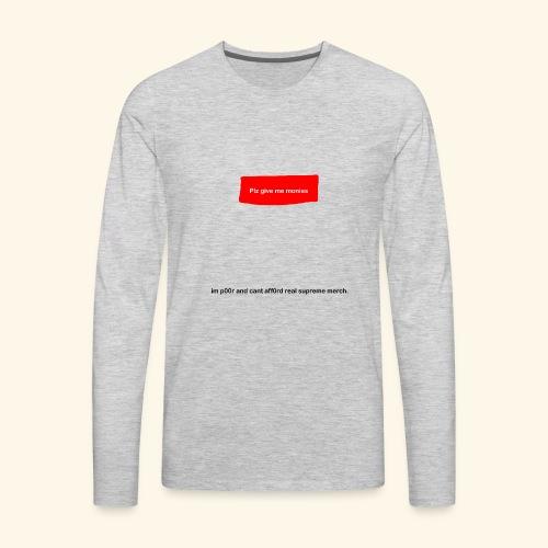 Fake Supreme Logo - Men's Premium Long Sleeve T-Shirt