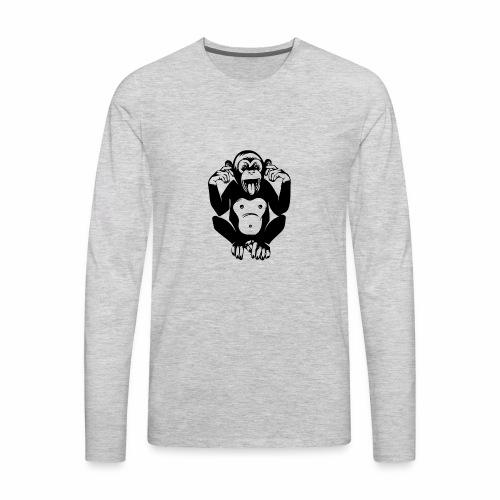 CheekyMonkey - Men's Premium Long Sleeve T-Shirt