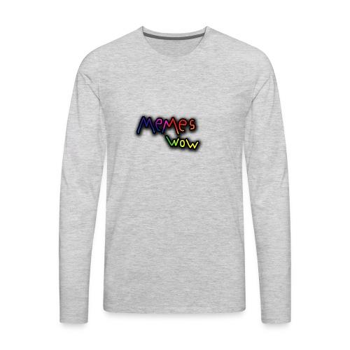 Memes Wow Logo - Men's Premium Long Sleeve T-Shirt