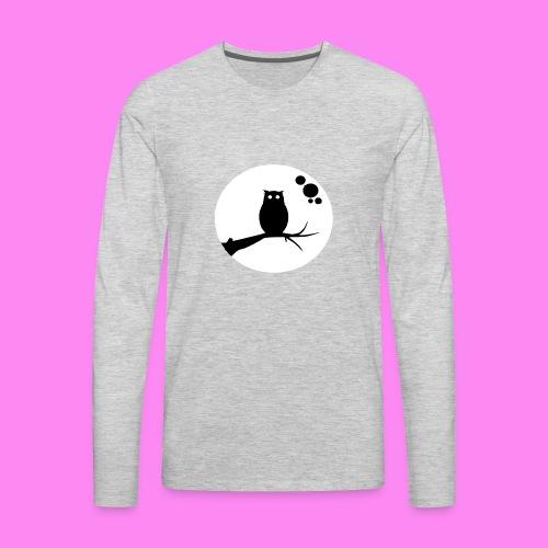 the owl awake - Men's Premium Long Sleeve T-Shirt