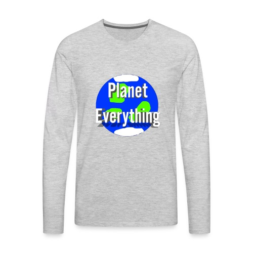 Planet Circle logo merchandise - Men's Premium Long Sleeve T-Shirt