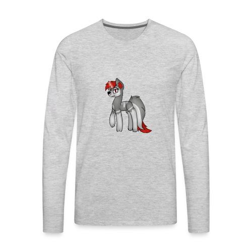 gray gray - Men's Premium Long Sleeve T-Shirt