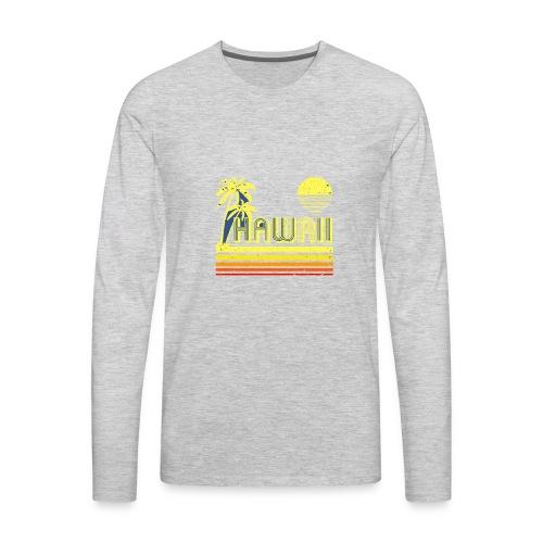 T Shirt Vintage Hawaii distressed look - Men's Premium Long Sleeve T-Shirt