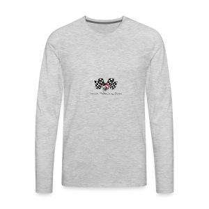 varoom1skull&flags - Men's Premium Long Sleeve T-Shirt