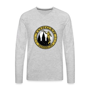 Tongan Mission - LDS Mission Classic Seal Gold - Men's Premium Long Sleeve T-Shirt