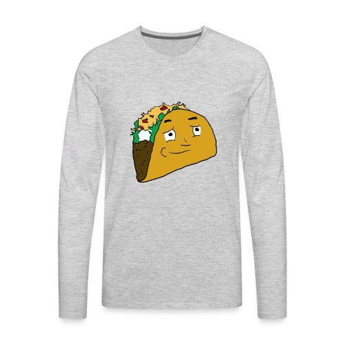 NoobieTaco Logo - Men's Premium Long Sleeve T-Shirt