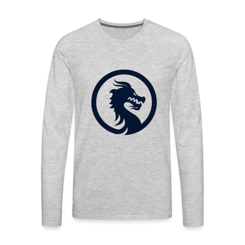 Dragon Logo PNG - Men's Premium Long Sleeve T-Shirt