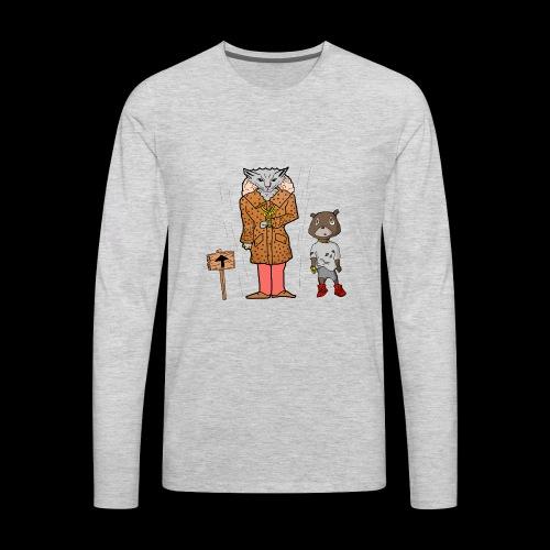 Tomkat Larry Only Pimps Tan Leather Ostrich Parka - Men's Premium Long Sleeve T-Shirt