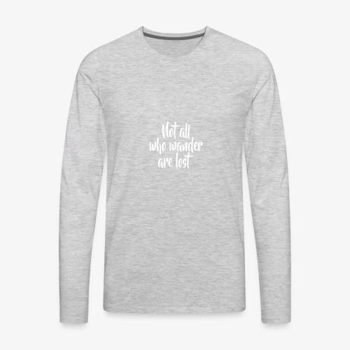 wander - Men's Premium Long Sleeve T-Shirt