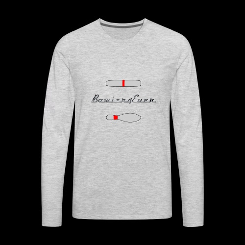 Bowler4Ever Pins Logo - Men's Premium Long Sleeve T-Shirt