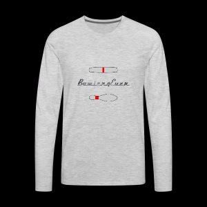 Bowler4Ever Pins Logo - Men's Premium Long Sleeve T-Shirt