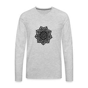 Flower Drawing - Men's Premium Long Sleeve T-Shirt