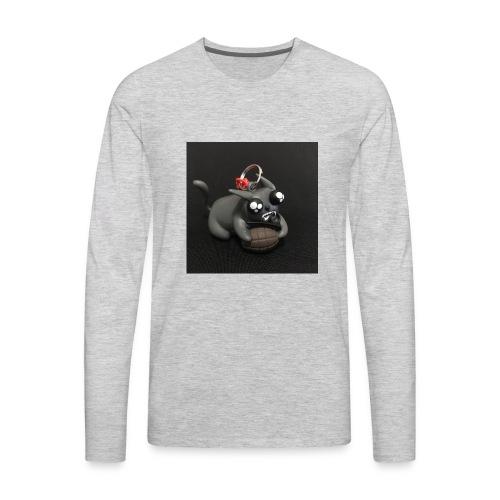 exploding kittens cat - Men's Premium Long Sleeve T-Shirt