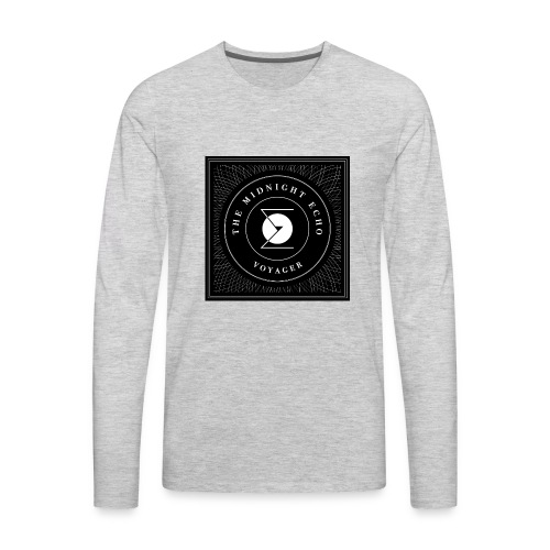 The Midnight Echo 'Voyager' - Logo - Black & White - Men's Premium Long Sleeve T-Shirt