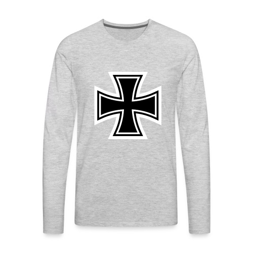 1200px German Cross svg - Men's Premium Long Sleeve T-Shirt