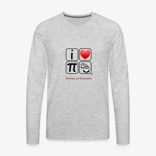 I love Pilates black and white - Men's Premium Long Sleeve T-Shirt