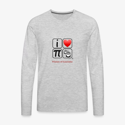 I love Pilates black and white - Men's Premium Long Sleeve T-Shirt